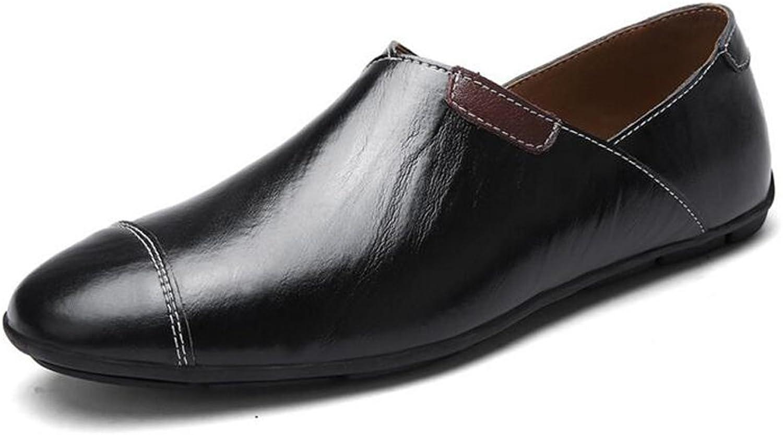 GAOLIXIA Herren Street Sandalen Large Größe Fashion Wandern Sandalen Herren Lederschuhe - Strandschuhe - Large Größe Casual Schuhe UK Größe 6-14 (Farbe   Single schuhe schwarz, Größe   40)