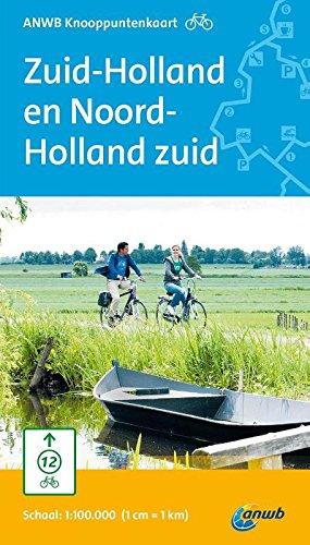 ANWB knooppuntenkaart fiets Zuid-Holland en Noord-Holland zuid
