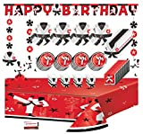Mikes Super Store, cintura nera per feste di compleanno miste, decorazioni per feste di karate, confezione jumbo per 16 ospiti