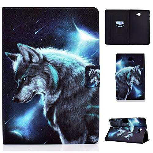WHWOLF Suitable for Samsung Galaxy Tab A6 10.1 (2016) Case (SM-T580/ T585 10.1') Tablet PU Leather Folio Protective Cover with Multiple Viewing Angles -sd37