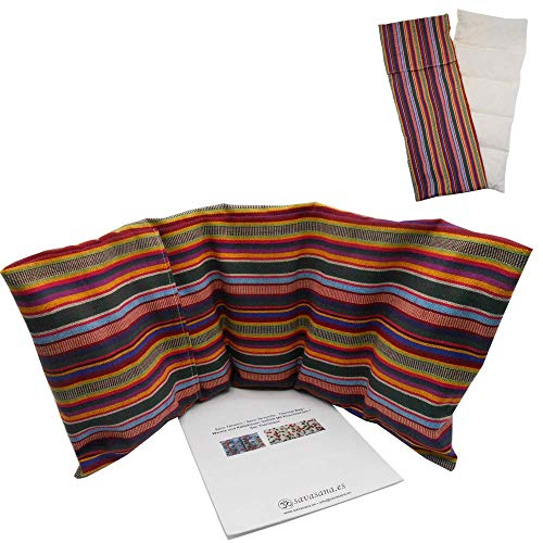 Thermal bag with cherry bones 'PERU' (XL) - 19,6x7,8in / 50x20cm - 0,800kg / 1,76lb - with washable cover - For cold or hot use