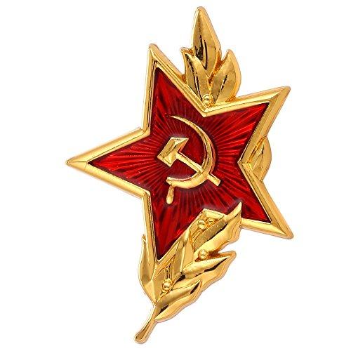 GuDeKe Soviet CCCP Red Star Sickle Hammer Symbol Emblem Lapel Pin Badge