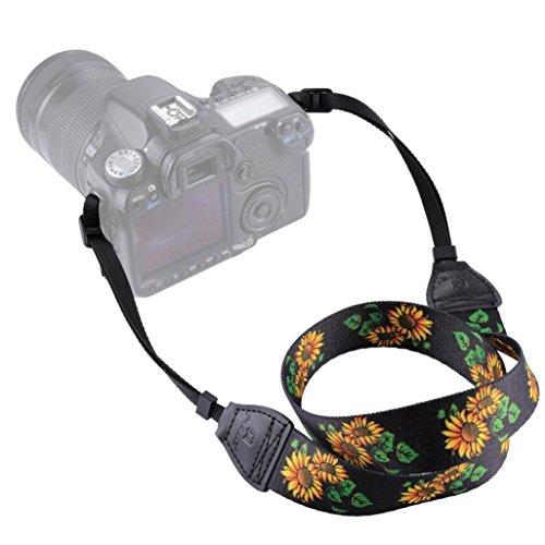 STRIR Generic Correa Ajustable de algodón Suave para cámara o videocámara, Ajustable al Hombro o al Cuello,con Adaptador Universal para cámaras DSLR Nikon, Canon, Sony, Samsung, Olymplus, Fujifilm