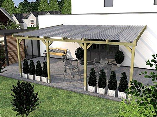 Terrassenüberdachung BORKUM I Wintergarten 600x400cm Überdachung Terrasse