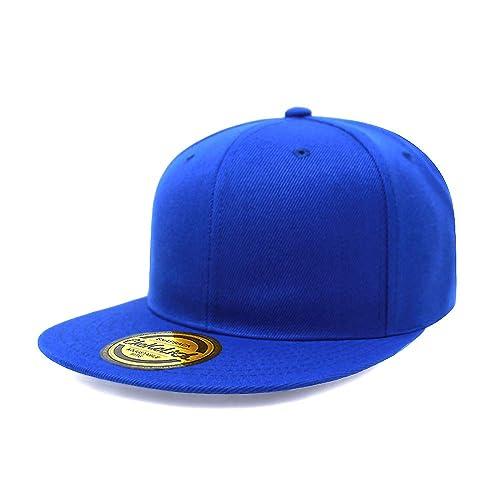 Flat Visor Snapback Hat Blank Cap Baseball Cap - 14 Colors b3325b916f6