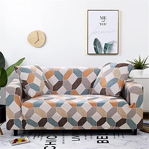 WXQY Funda de sofá Moderna Funda de sofá elástica para Sala de Estar, Esquina seccional, Funda de protección para Silla en Forma de L, Funda de sofá A30 de 4 plazas