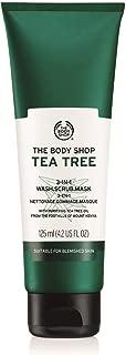 The Body Shop Tea Tree 3-in-1 Wash.Scrub.Mask, Made with Tea Tree Oil, 4.2 Fl. Oz.