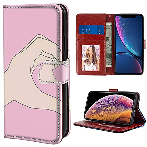 HUAKE Wallet Case fit for iPhone Xr with Best Friend Pattern Premium PU Leather Wallet with Viewing Stand Card Slots Magnetic Buckle Folio Flip Cover Wrist Strap.