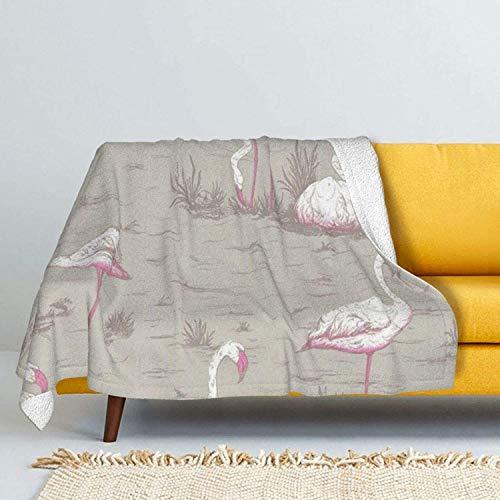 Shark & Fishhook & Bones Lamb Wool Throw Blankets Silver Fox Fur Blanket Ultra-Soft Plush Throw Blanket for Sofa Bed