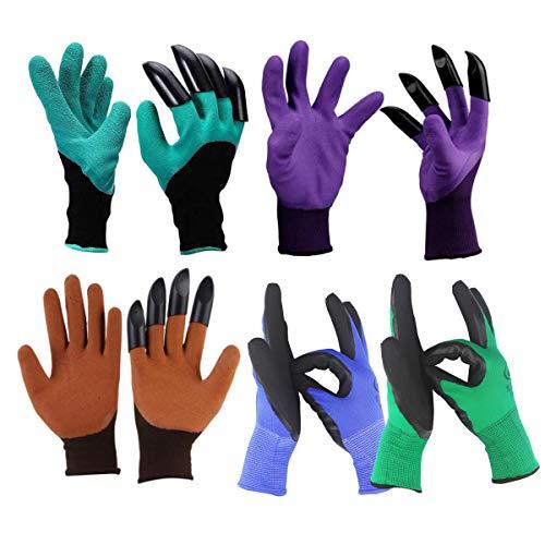 Xumier 5 Paar Gartenhandschuhe wasserdicht gartenhandschuhe dornenfest Handschuhe graben Gartenpflanzhandschuhe garten handschuhe set gartenhandschuhe damen + Schutzhandschuhe