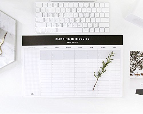 So Chic Desktop Weekly Planner Pad Undated Calendar Desk Pad Organizer Schedule Agenda to do List Notepad, 52p, 14.8� X 8.9�