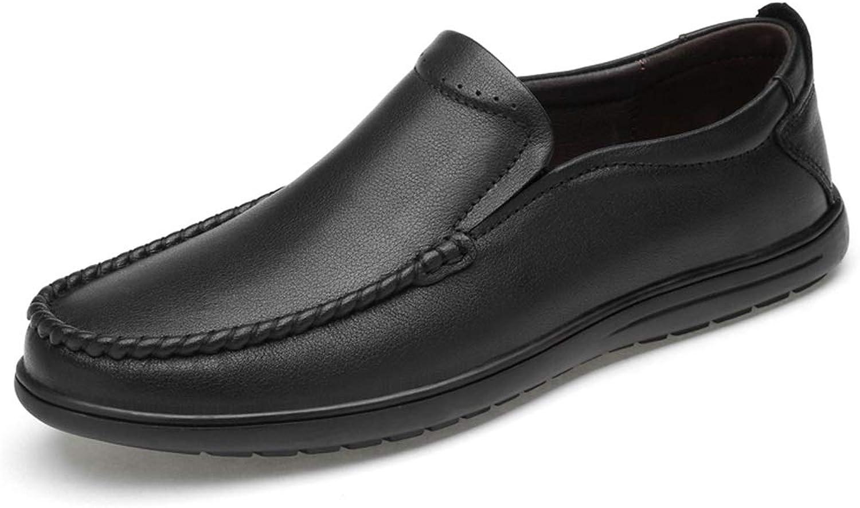 CHENJUAN Schuhe Herrenmode Müßiggänger Casual Aund Komfortable Klassische Einfarbig Außensohle Stiefel Mokassins    Attraktives Aussehen
