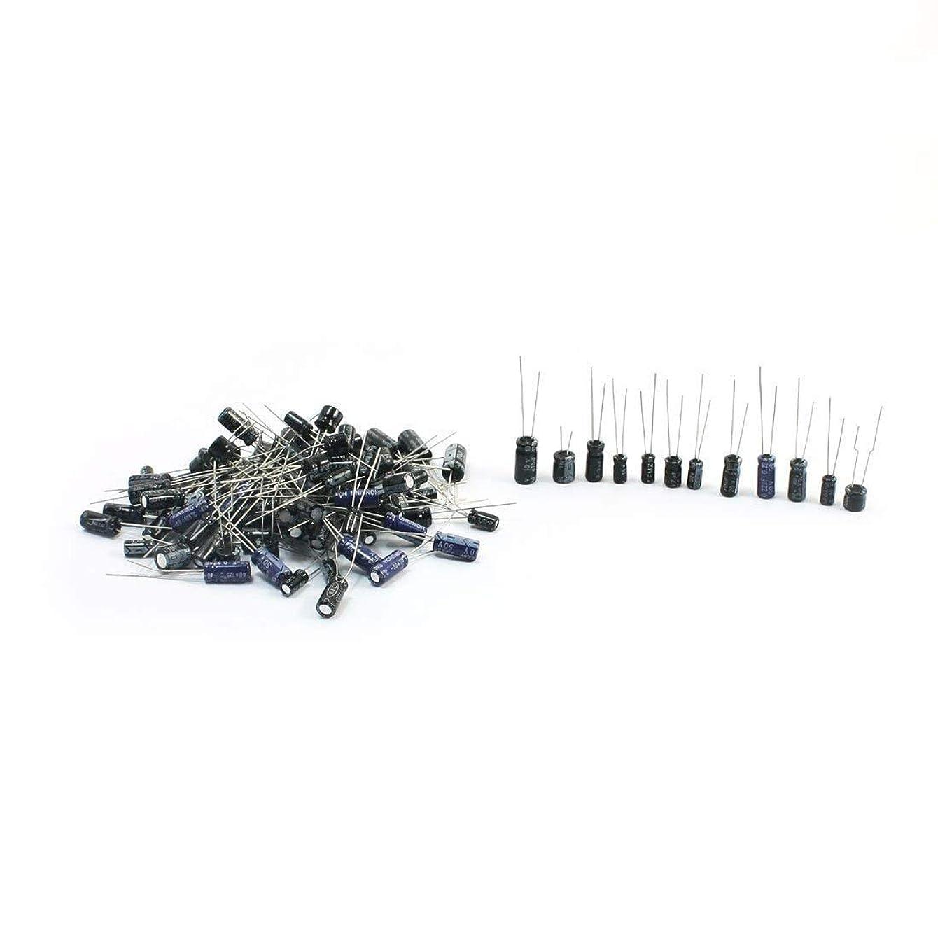 ジャンル熟考する先入観電子太郎 120PCS 電子部品バッグ 0.22uf-470uf 電解コンデンサ 12種類各10pcs