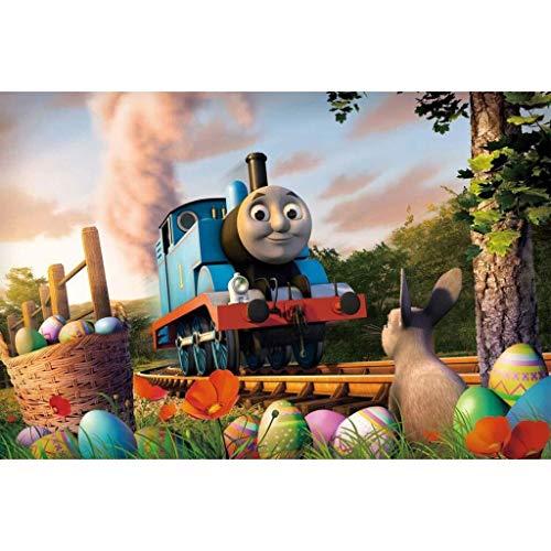 Children's puzzel Trein Thomas puzzel, puzzel puzzel, Thomas en zijn vrienden Poster, Houten Amerikaanse Cartoon Puzzel complete set (Color : D, Size : 300pc)