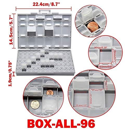 Gereedschapskist Smd Opbergdoos Plastic Case Surface Mount Weerstanden Condensatoren Goed Klein vak Kleine Organizer Toolbox gereedschapskist Box All 96
