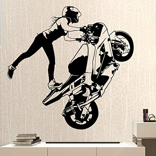 yaonuli Motorrad Racing Aufkleber Vinyl Wanddekoration Wandaufkleber Motorrad Racing Aufkleber 50X91cm