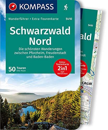 KV WF 5410 Schwarzwald Nord mit Karte: Wanderführer mit Extra-Tourenkarte 1:50.000, 50 Touren, GPX-Daten zum Download (KOMPASS-Wanderführer)