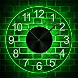 The Geeky Days Arabia Numbers Modern Simple LED Lighting Acrylic Wall Time Clock with Color Changing Transparent Luminous Clock Watch Home Living Room Wall Hanging Decor