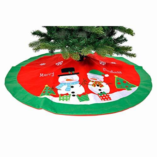 Festive Productions Felt Snowmen Felt Tree Skirt : 136cm : P020354