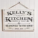 Artblox Personalized Kitchen Sign | Customized Last Name Signs For Home Decor | Farmhouse Kitchen Wall Decor For Mothers Day Gift Housewarming Wedding Gifts
