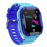 PTHTECHUS Reloj Inteligente Niño,Smartwatch para Niños IP67 con WiFi, LBS, Juegos, Llamada, SOS, Cámara, Chat de Voz, Modo de Clase, Reloj Regalo para Niños de 3-12 años, Azul