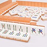 ZXF- Hand Frote Home Mahjong Tiles, Local Golden Large Mahjong Tiles, 40# 144 Sheets + Storage Boxes