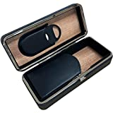 Prestige Import Group - 3 Cigar Folding with Snap Lock Cigar Travel Case - Color: Black