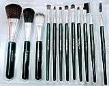 MAC Premium Quality Makeup Brush Set of 12 Piece Black