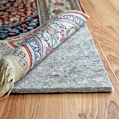 """RUGPADUSA - Dual Surface - 8'x10' - 1/4"""" Thick - Felt + Rubber - Non-Slip Backing Rug Pad - Adds Comfort and Protection - Safe for All Floors and Finishes"""