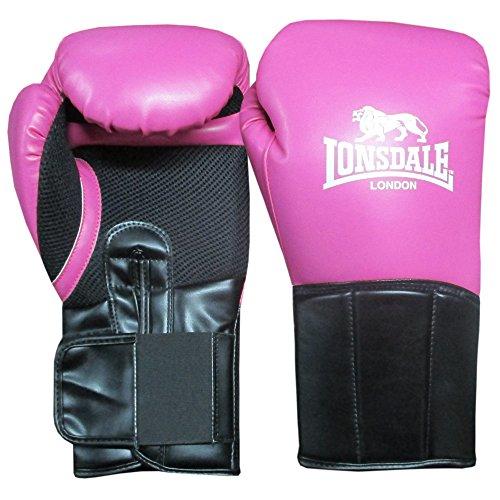 Lonsdale Damen Performer Boxhandschuh, rosa/Schwarz, 16 oz
