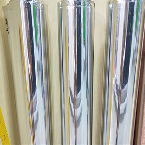 EWDF 152x30cm DIY DIY Flexible Silver Chrome Mirror Vinyl Coche Wrap Wrap Wrap Sticker Glue Separable Body Body Mirror Vinyl Film DIY