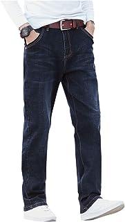 Demon&hunter Men`s Relaxed Fit Straight Leg Jeans S80L9-1