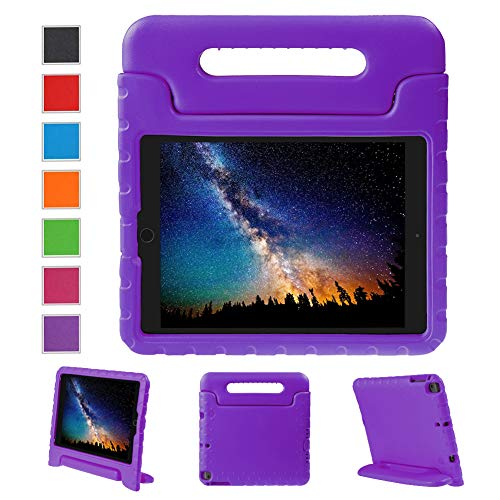 NEWSTYLE Apple iPad Air 2 Case Shockproof Case Light Weight Kids Case Super Protection Cover Handle Stand Case for Kids Children for Apple iPad Air 2 (2014 Released) - Purple Color