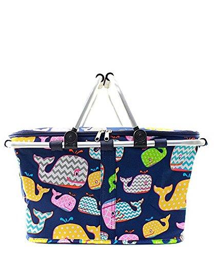 Canvas Whale Market Basket
