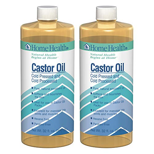 Home Health Original Castor Oil (2 Pack) - 32 fl oz - Promotes Healthy Hair & Skin, Natural Skin Moisturizer - Pure, Cold Pressed, Non-GMO, Hexane-Free, Solvent-Free, Paraben-Free, Vegan