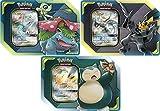 Pokémon TCG: TAG Team Tin's Pikachu & Zekrom, Eevee & Snorlax and Celebi & Venusaur