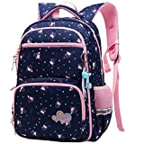 Rucksack für Kinder Schulrucksack Mädchen Jungen Wasserdichte Schultaschen Bookbag Daypack (Navy Blau)