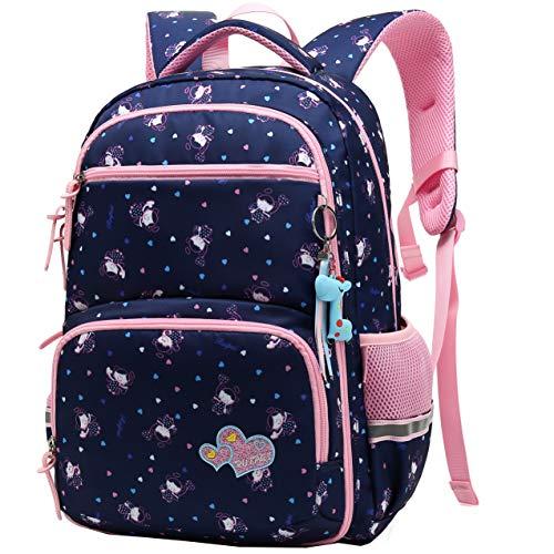 Zaino scuola bambini Impermeabile zaino per Ragazzi e Ragazze belle daypack per Sport e Viaggi, Scuola Elementare Borsa per Adolescenti (blu navy)