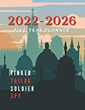 Tinker, Tailor, Soldier, Spy : 2022-2026 Five Year Planner: 5 Year Appointment Calendar, 60 Months Calendar with Holidays,...