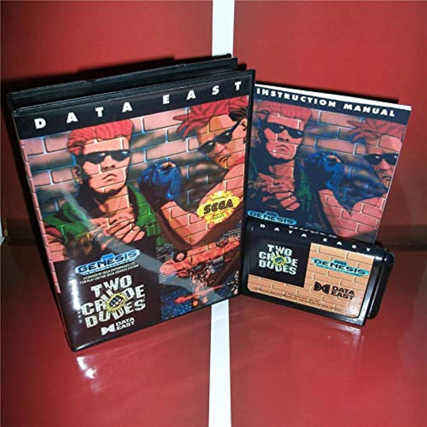 Value-Smart-ToysTwo Crude Dudes US Cover with Box and Manual for Sega Megadrive Genesis Video Game Console 16 bit MD Card
