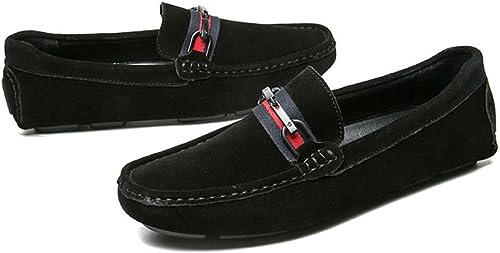 chaussuresDQ Chaussures de Sport en Cuir pour Hommes d'été résistantes à l'usure