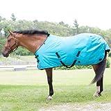 Kensington Pferdedecke Allround-1200 D, 300 g, für Pony, wasserdicht, atmungsaktiv und perfekt für den kalten Winter, 50, türkis