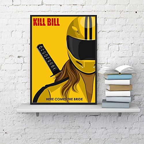 Flduod Kill Bill Klassische Film Tapete Wandkunst Leinwand Poster druckt Ölgemälde Wandbilder für Wohnzimmer Wohnkultur Kunst - 40x60cm - kein Rahmen