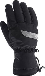 HAOSHUAI Motorfiets Riding Warm Touch Screen Winddicht Volledige Vinger Waterdichte Koud Katoen Handschoenen, Zwart Ridding handschoenen (Maat: XXL)