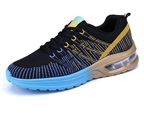 Zapatos de Running Para Hombre Zapatillas Deportivo Outdoor Calzado Asfalto Sneakers Negro Azul 42