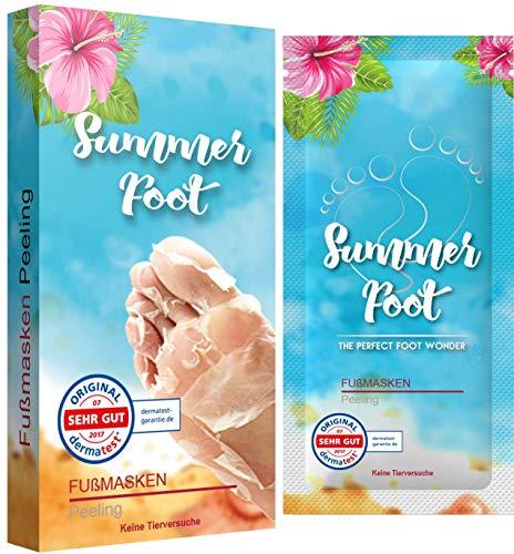 Summer Foot Fußmaske I Fußpeeling für Zu Hause I 2 Fußmasken I Dermatologisch getestet