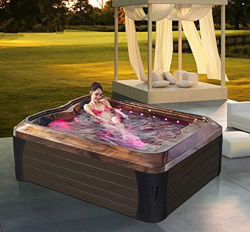 Haisland M-3392 Massagegerät für den Innenbereich, für 2 Personen, mit Liegestühlen, für Balkon und Außenbereich, Whirlpool-Badewanne