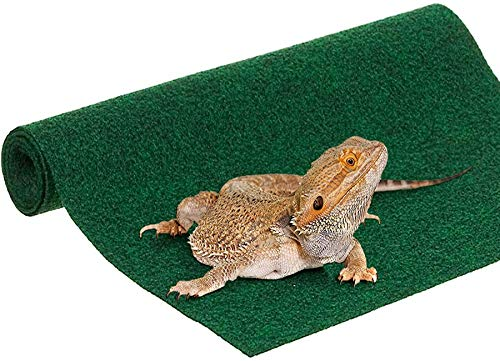 SunGrow Reptile Mat, 35x17 Inches, 1-inch Thickness, Edible and Paw-Friendly Reptile Bed, Climbing Carpet, Terrarium Bed, Substrate Liner Safe for Tanks, Home, and Kitchen Use