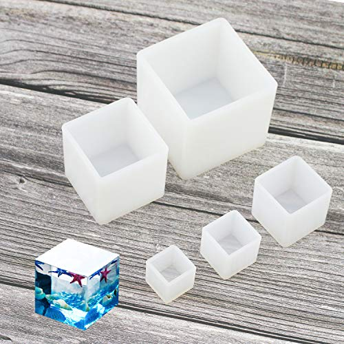 Luckkyme Resin Casting Molding Square Resin Mold Cube Silicone Molds for DIY...