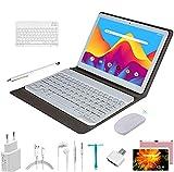 Tablette Tactile 10.1Pouces Pas Cher 4G LTE FHD 4Go RAM 64Go/128Go ROM Android 9.0 Tablet PC avec Clavier et Souris Quad Core 8000mAh Dual SIM Call Double caméra WiFi,Bluetooth,GPS,OTG,Netfilx (Rose)